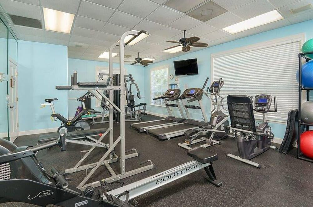 Fitness room at Ocean Park of Ponte Vedra