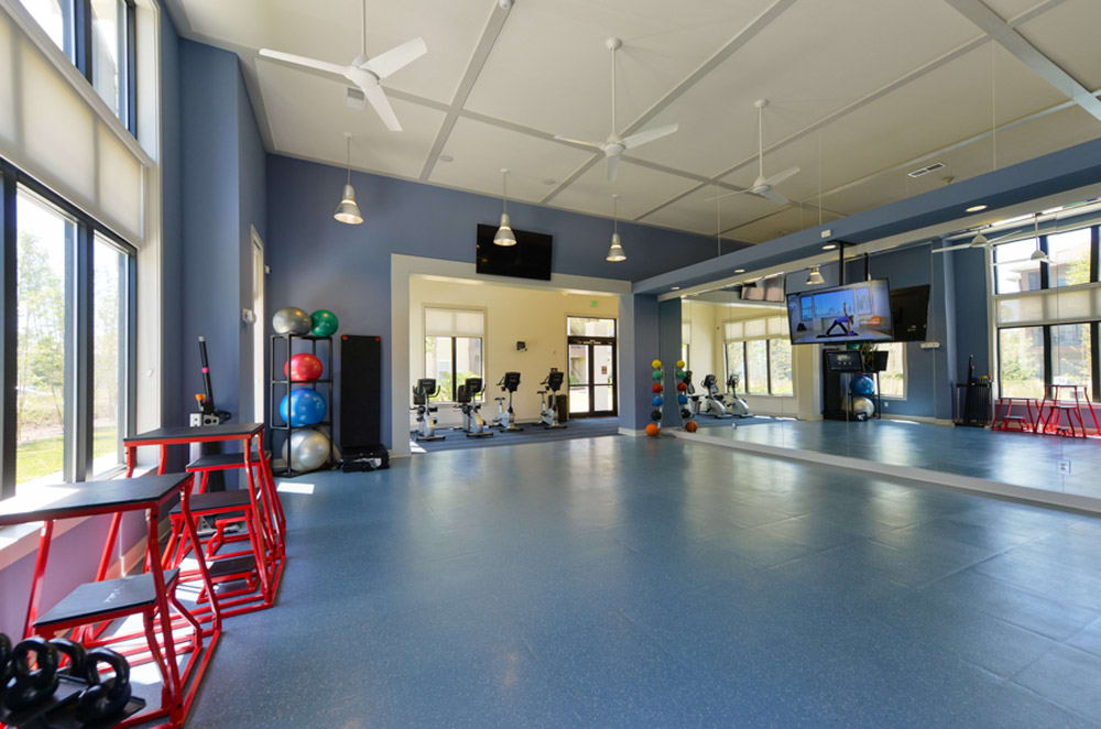 Indoor fitness center at Cabana Club and Galleria Club in Jacksonville, FL