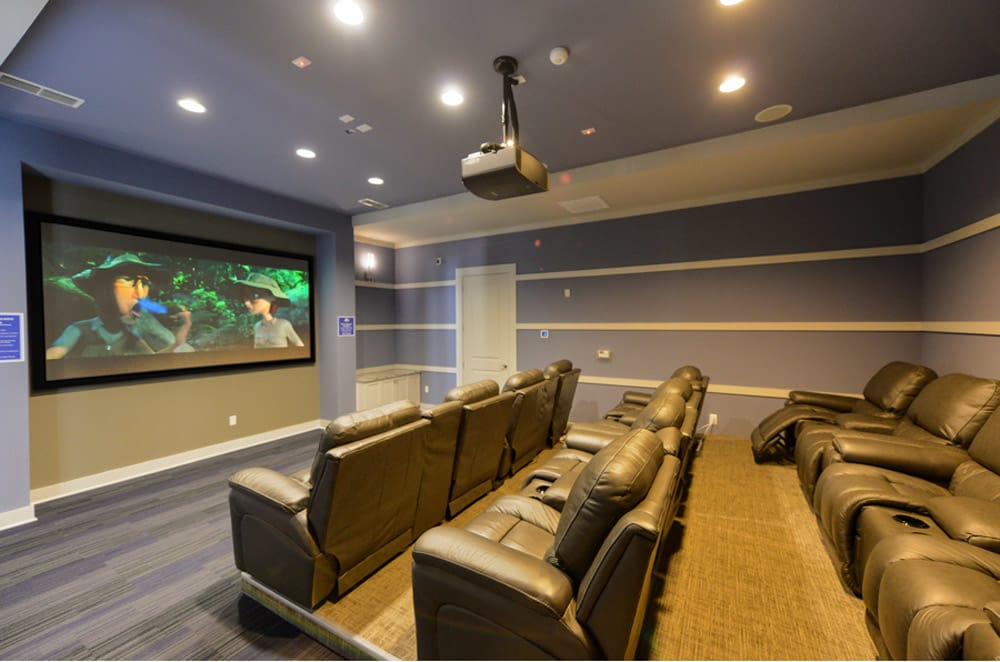 Community movie room at Cabana Club and Galleria Club