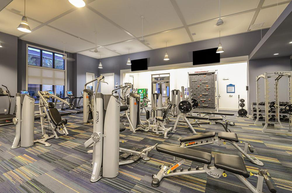 Modern fitness center at Cabana Club and Galleria Club in Jacksonville, Florida