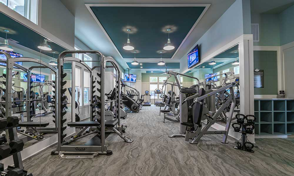 Fitness center for residents at Alaqua in Jacksonville, FL