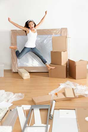 Young woman preparing to move at Rent-A-Space, Inc. in Davidson