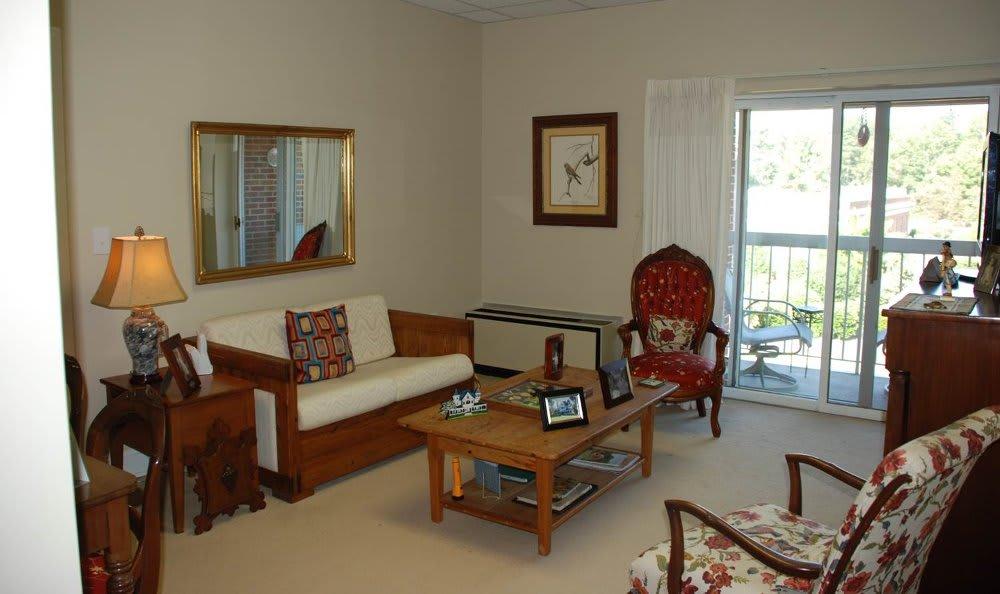Apartment living room at The Clinton Presbyterian Community
