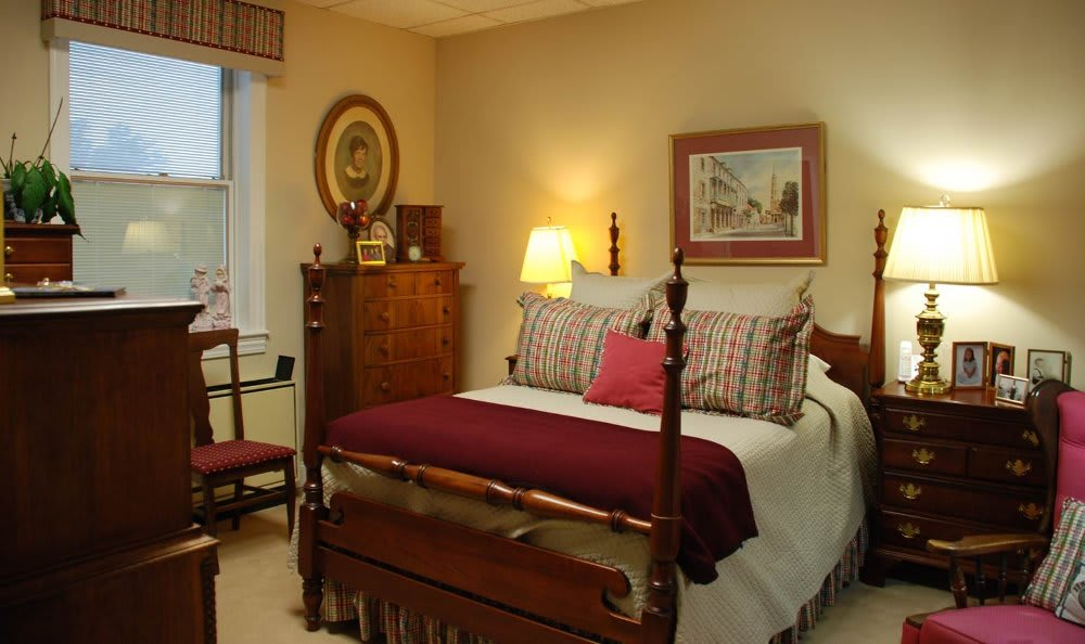 Assisted living bedroom at The Clinton Presbyterian Community