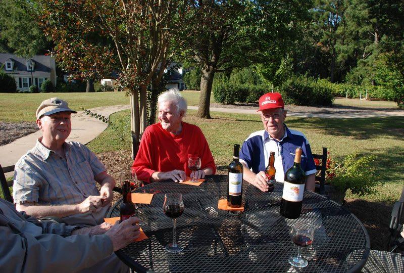 Men's happy hour outside at The Clinton Presbyterian Community