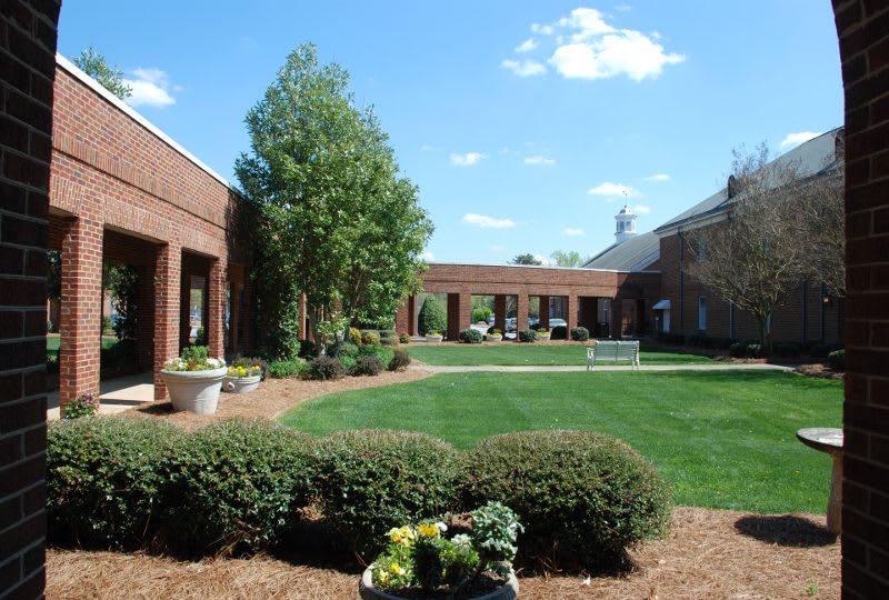 The Clinton Presbyterian Community front garden