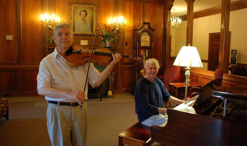 Doug and Charles entertaining at The Clinton Presbyterian Community