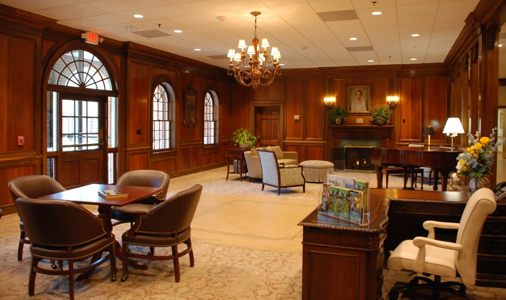 Front lobby at The Clinton Presbyterian Community