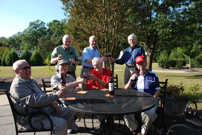 Friends enjoying in outdoors at The Clinton Presbyterian Community