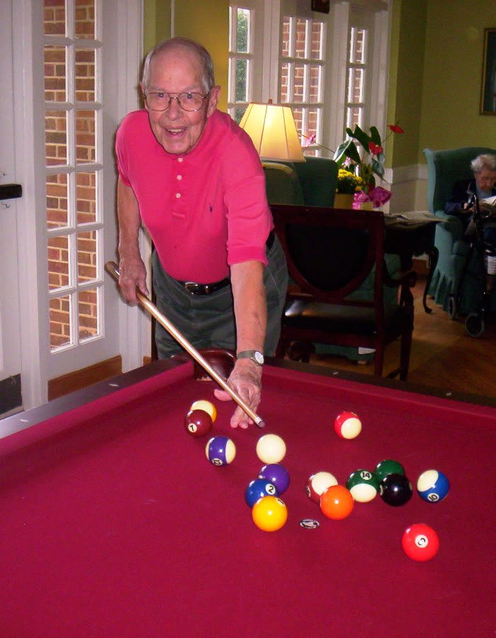 Billiards room at The Clinton Presbyterian Community