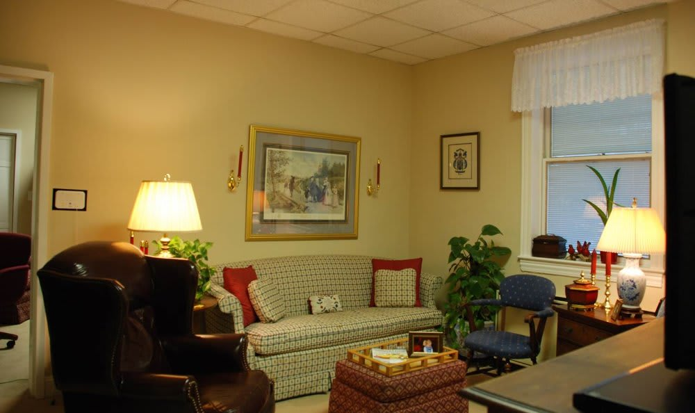 Living room at The Clinton Presbyterian Community