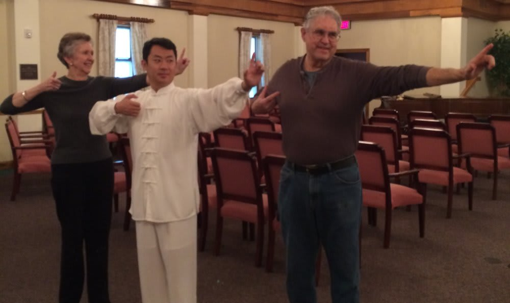 Practicing tai chi at The Clinton Presbyterian Community