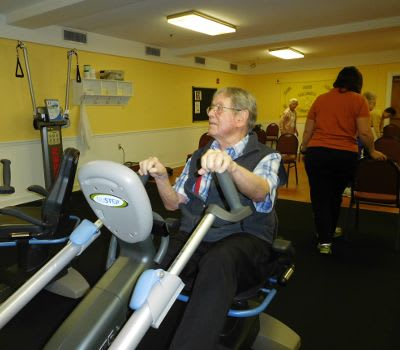 The Columbia Presbyterian Community offers fitness and wellness opportunities to their residents.