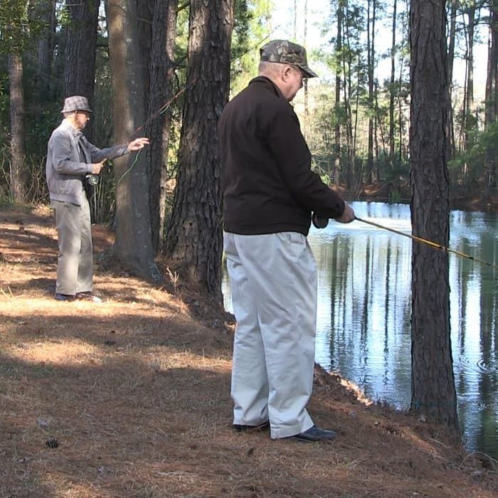 Fishing at The Florence Presbyterian Community