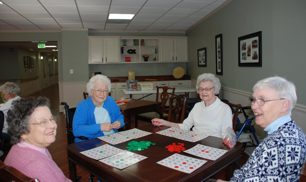 Bingo time at The Florence Presbyterian Community