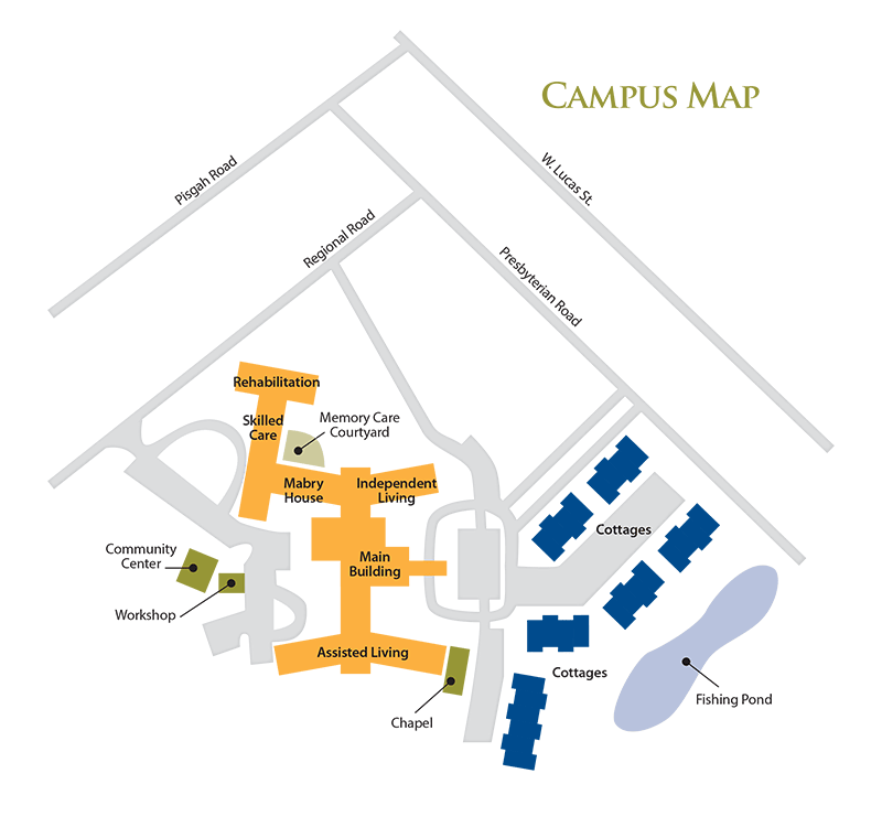 Campus map of The Florence Presbyterian Community in Florence