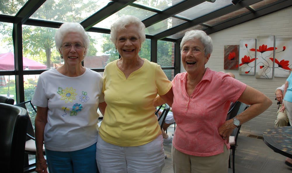 Ladies having a good time at The Florence Presbyterian Community