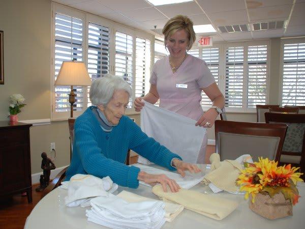 Mabry folding at The Florence Presbyterian Community