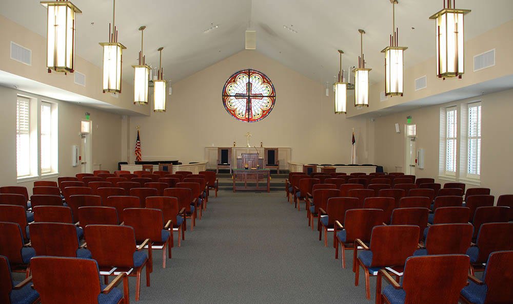 Interior of our chapel and The Foothills Presbyterian Community in Easley