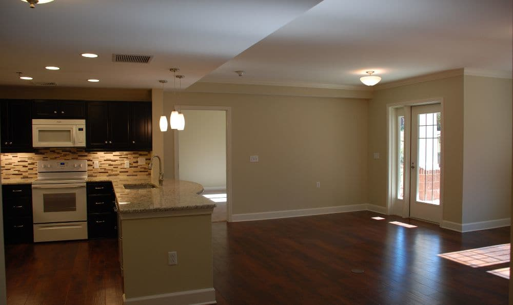 living dining room combo at apartment at The Foothills Presbyterian Community in Easley, SC
