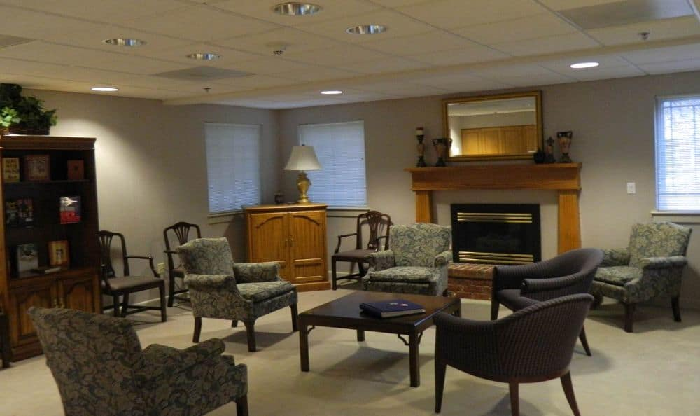 residents lounge at The Foothills Presbyterian Community in Easley, SC