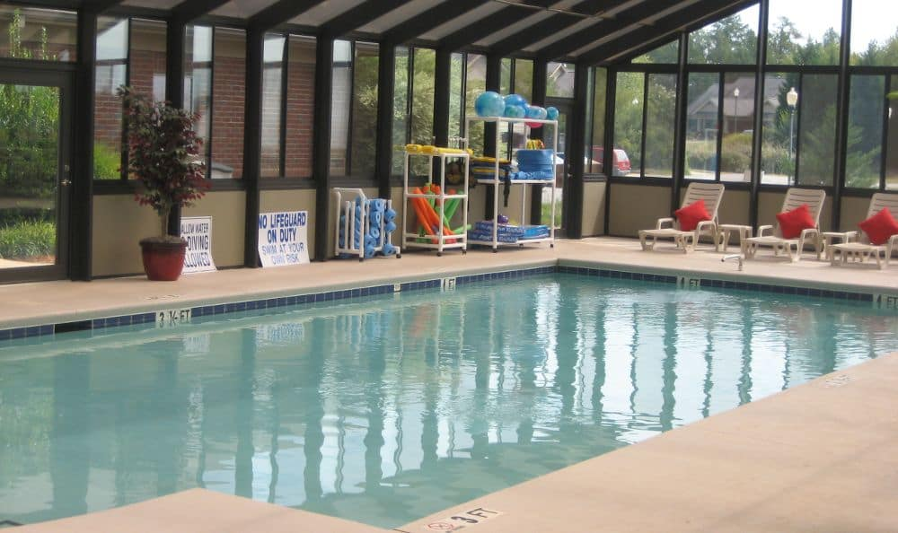swimming pool at The Foothills Presbyterian Community in Easley, SC