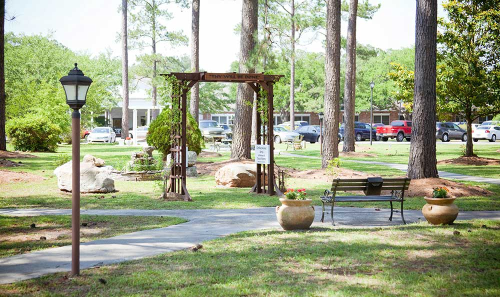 You will enjoy the prayer garden at The Village at Summerville.