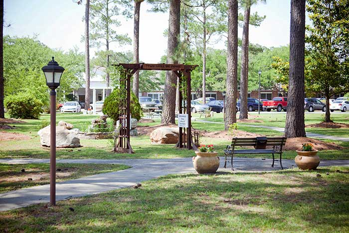 Smell the flowers and say a prayer at The Village at Summerville.