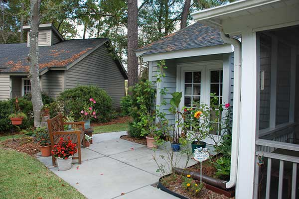 The Village at Summerville has comfy patio homes for residents.
