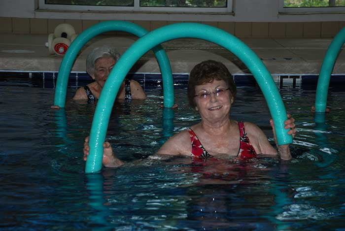 The Village at Summerville offers fitness and wellness opportunities to their residents.
