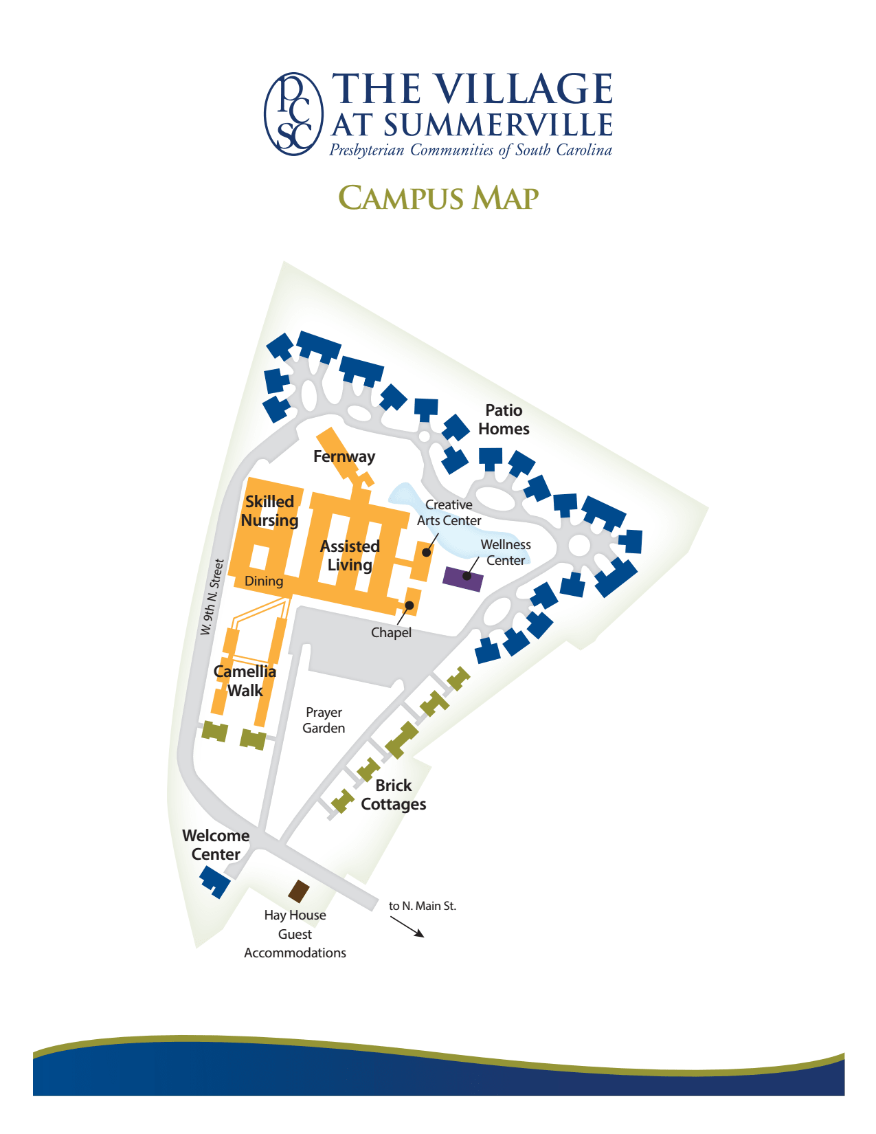Campus map of The Village at Summerville in Summerville