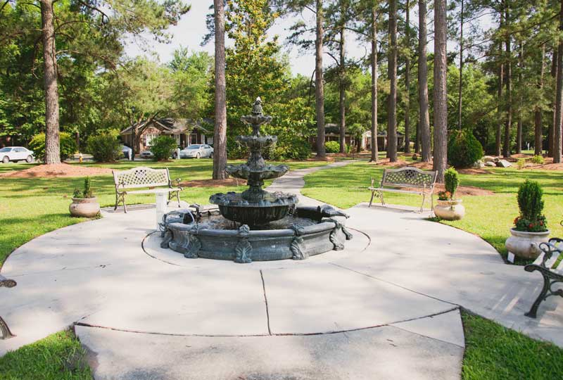 Fountain feature at The Village at Summerville