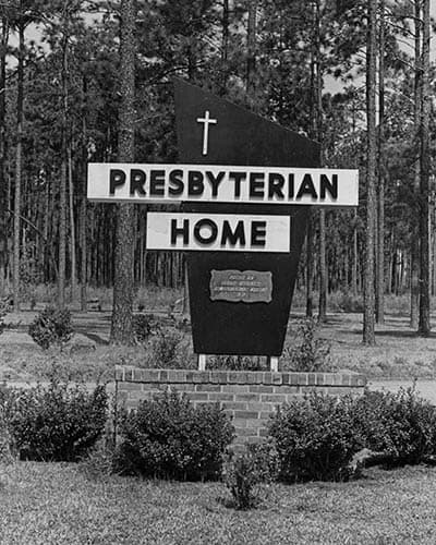 Historic sign of Presbyterian Communities of South Carolina