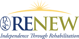 Renew independence through rehabilitation logo