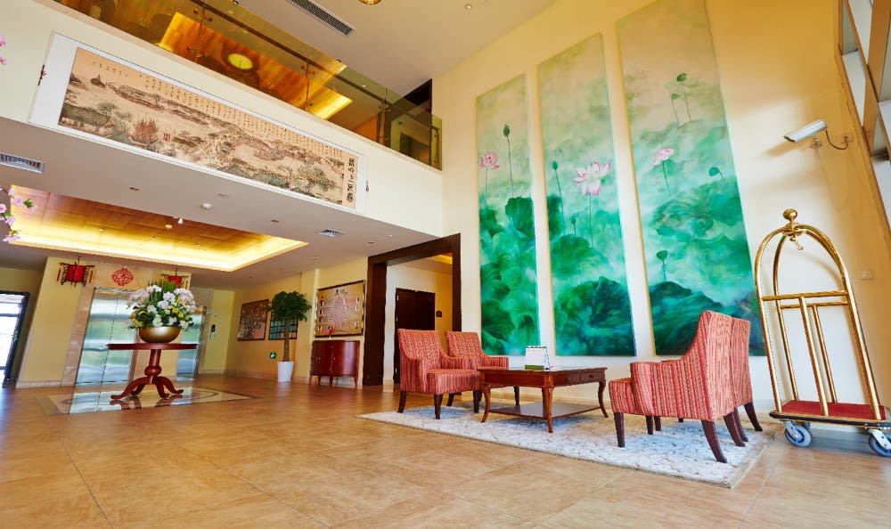 Welcoming Lobby at the senior community in China