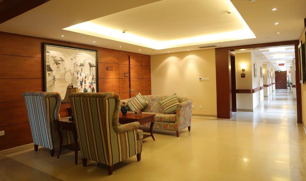 Lobby at the senior community in China