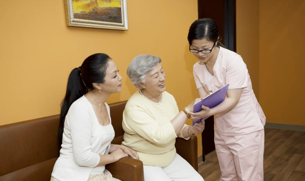 Happy patients at the senior community in China