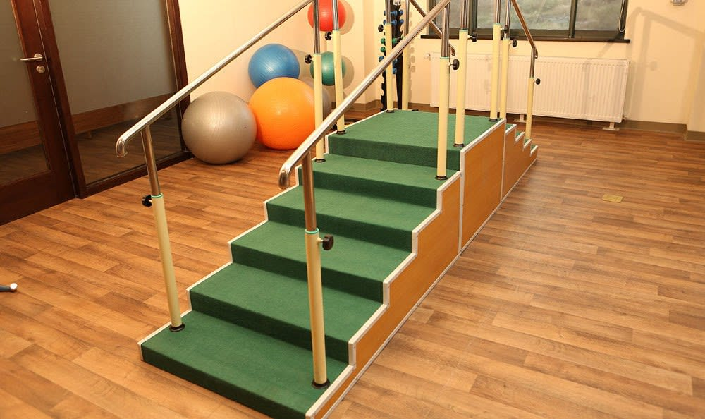 Physical therapy staircase offered at our elder care community in China