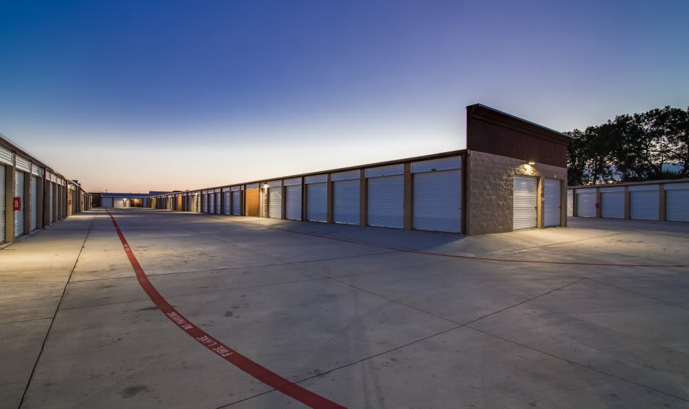 Outside Drive-Up Units at Advantage Storage - Rowlett East in Rowlett, TX