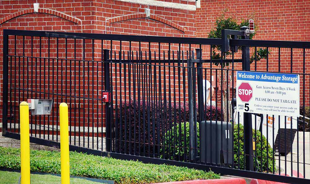 Gated Property with Coded Gate Access at Advantage Storage - Allen.