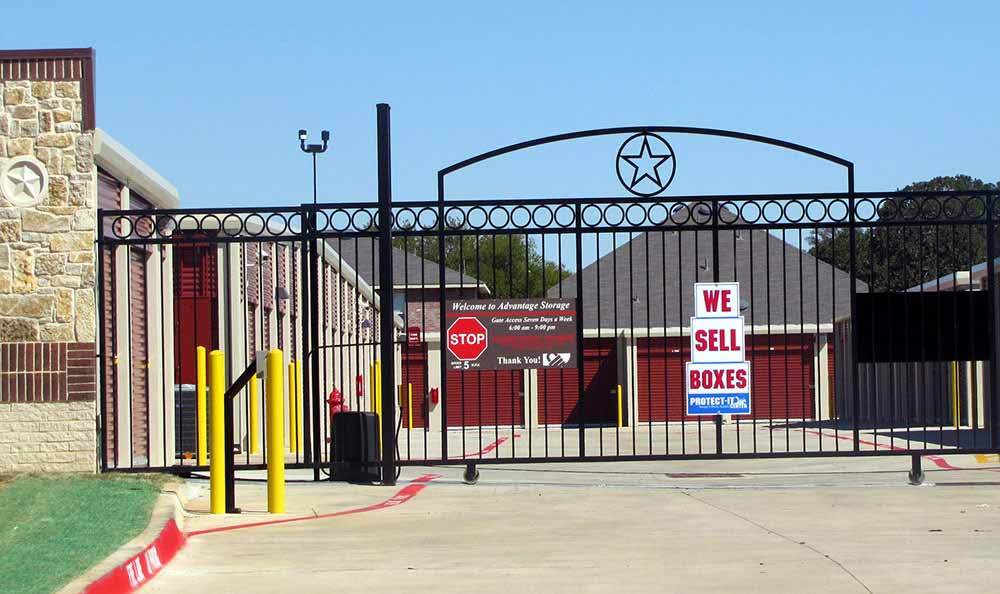 Gated Property with Coded Gate Access at Advantage Storage - Denton.