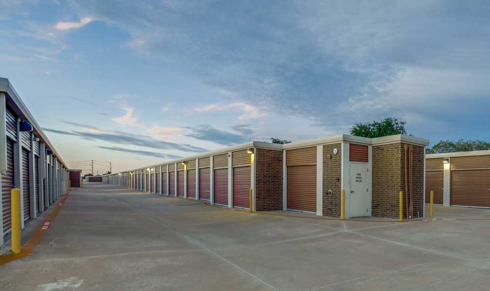 Outside Drive-Up Units at Advantage Storage - Frisco Main Street in Frisco, TX.