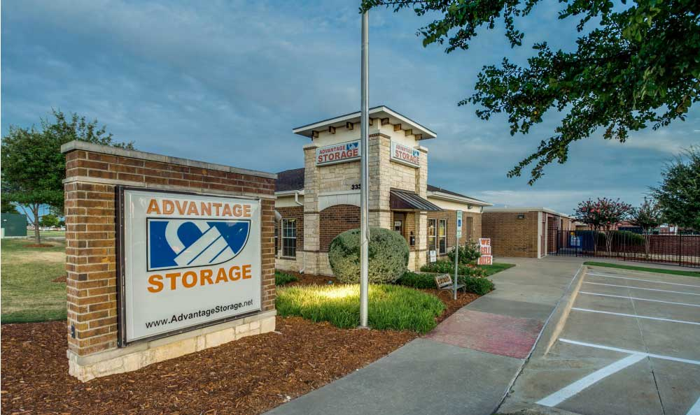 Well lit facility at Advantage Storage - Frisco Main Street in Frisco, TX.
