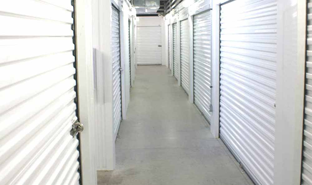 Well lit hallways at Advantage Storage - Frisco Main Street