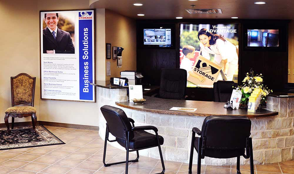Office at Advantage Storage - Irving / Las Colinas in Irving, TX.