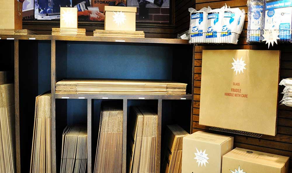 We sell moving supplies at Advantage Storage - Irving / Las Colinas.