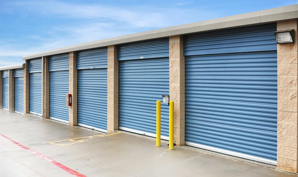 Outside Drive-Up Units at Advantage Storage - Lewisville in Lewisville, TX.
