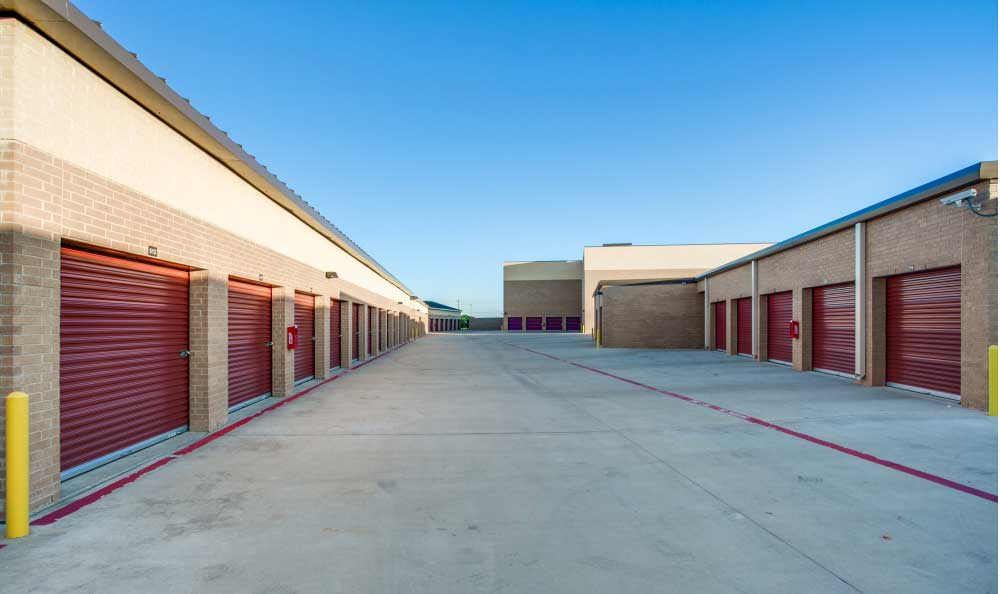 Outside Drive-Up Units at Advantage Storage - McKinney East Craig Ranch in McKinney, TX.