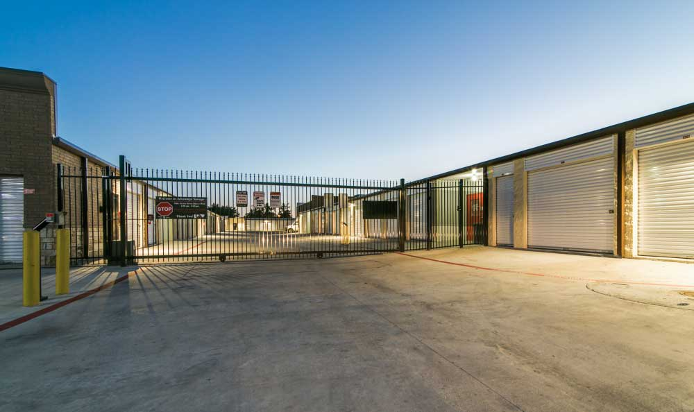 Gated Property with Coded Gate Access at Advantage Storage - Garland.