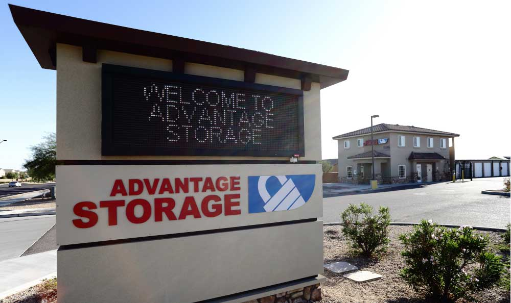 Sign at Advantage Storage - Buckeye.